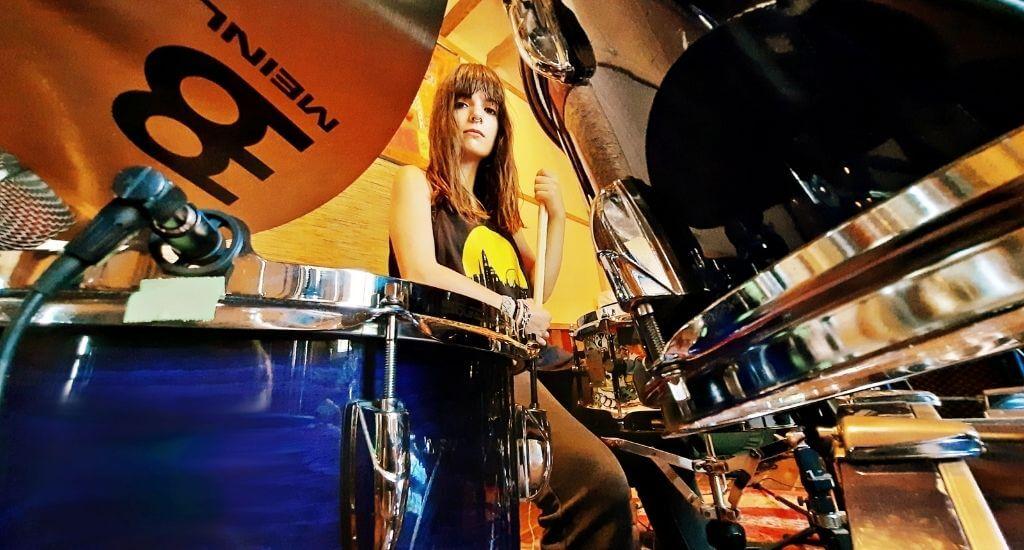 Elenia in the studio
